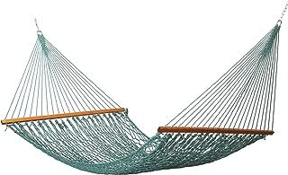 East Coast Hammocks Large Weather Smart Rope Hammock, Spruce