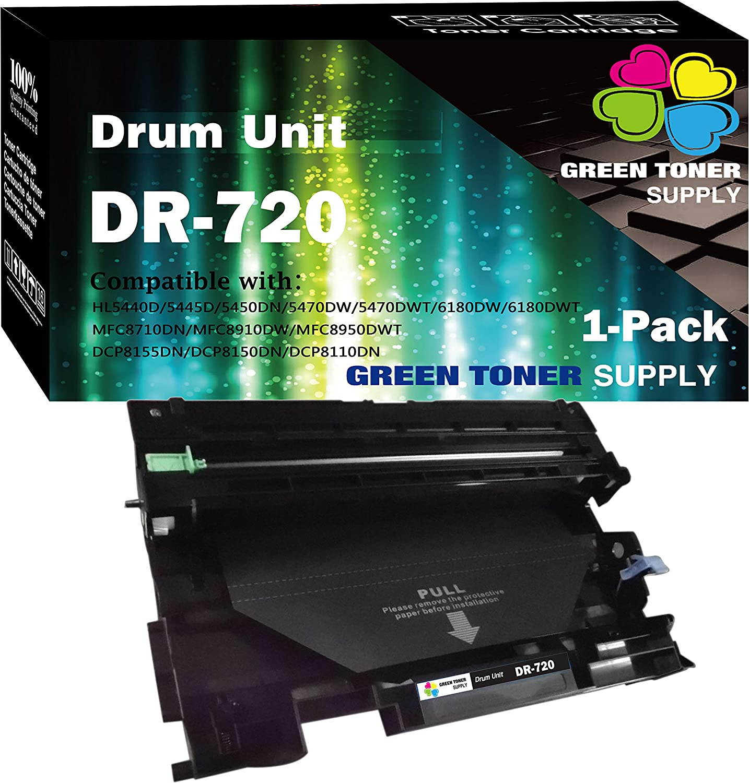 (1-Pack, Drum Unit) Compatible DR-720 DR720 Drum Used for Brother DCP-8155DN DCP-8150DN MFC-8950DW MFC-8710DW MFC-8910DW HL-6180DW HL-5450DN HL-5470DW MFC-8810DW HL-5440D Printer, by GTS