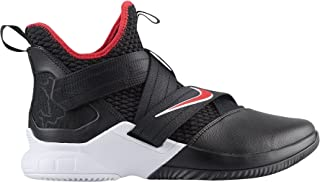 Nike Men's Zoom Lebron Soldier XII Basketball Shoes (13, Black/Red/White)