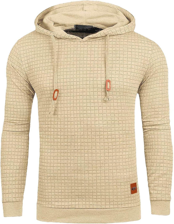 Mens Casual Hoodies Sweatshirt Beige Medium