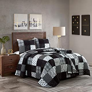 Donna Sharp Twin Bedding Set - 2 Piece - London Contemporary Quilt Set with Twin Quilt and One Standard Pillow Sham - Machine Washable
