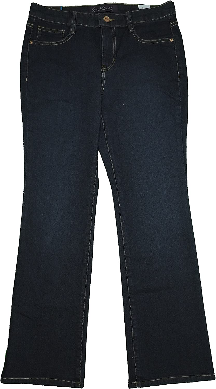 Gloria Vanderbilt Womens Size 6 Short Gloria Microboot Jeans, Preston