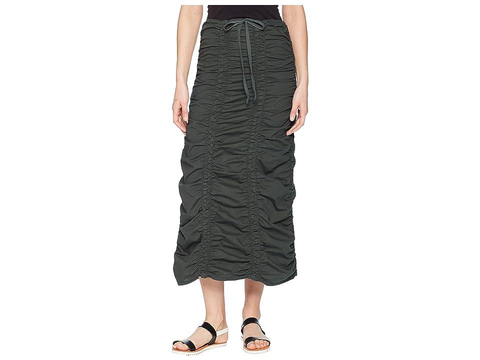 XCVI Stretch Poplin Double Shirred Panel Skirt (Sea Turtle) Women