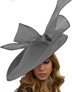 Hats By Cressida Gorgeous Barn Owl Large Saucer Bow Ascot Derby Wedding Hat - Available in 40 Colours