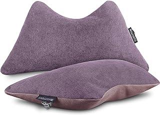 HAPPERS Pack 2 Cojines The Cushion Revolution Morado para el Descanso Lumbar y Cervical.