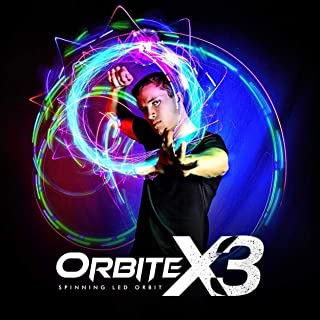 EmazingLights 4-LED Spinning Orbit: Orbite-X3 Lightshow Orbital Rave Light Toy