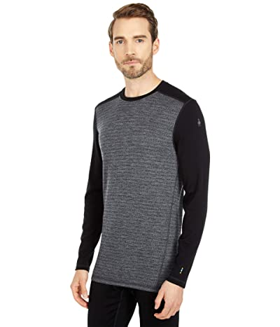 Smartwool Merino 250 Base Layer Pattern Crew (Medium Gray Tick Stitch) Men