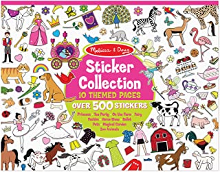 Melissa & Doug Sticker Collection Book; Arts & Crafts; Princesses, Tea Party, Animals, and More (500+ Stickers, Great Gift for Girls and Boys - Best for 3, 4, 5, and 6 Year Olds)
