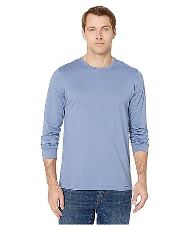 Hanro Night and Day Long Sleeve Shirt (Caribbean Blue) Men