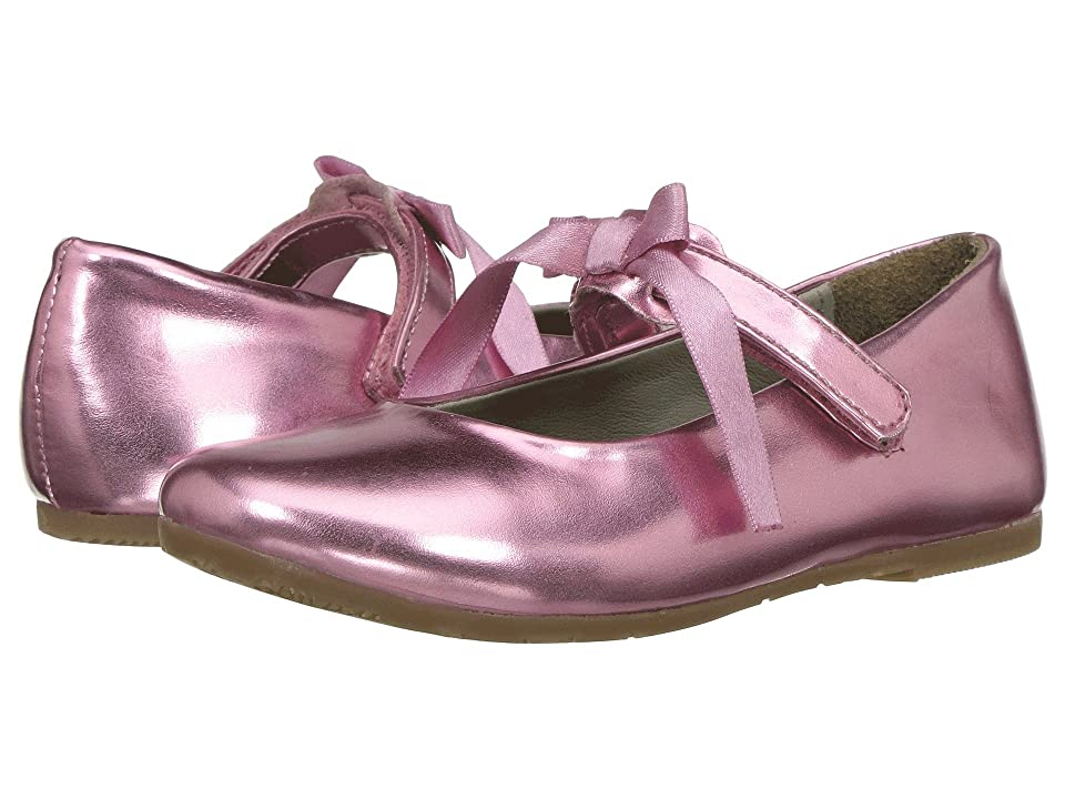 Pazitos Classic Ballerina MJ PU (Toddler/Little Kid) (Pink 1) Girls Shoes