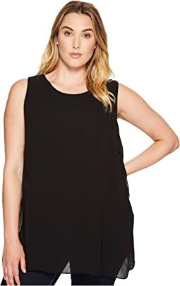 Plus Size Crossover Slit Tunic