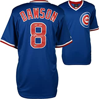 Andre Dawson Chicago Cubs Autographed Majestic Blue Cooperstown Collection Replica Jersey with