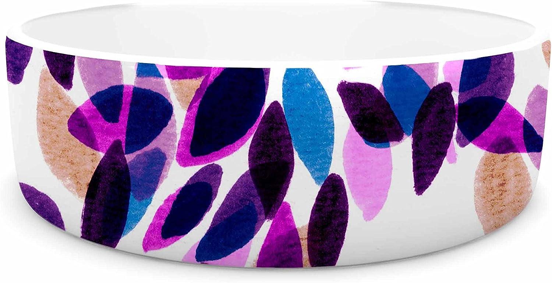 KESS InHouse Ebi Emporium Dahlia Dots 3  Pink Purple Pet Bowl, 7