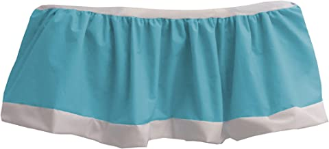 Baby Doll Bedding Regal Nuetral Crib Skirt/Dust Ruffle, Aqua
