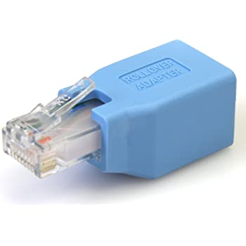 StarTech.com Cisco Console Rollover Adapter for RJ45 Ethernet Cable - Network adapter cable - RJ-45 (M) to RJ-45 (F) - blue - ROLLOVER