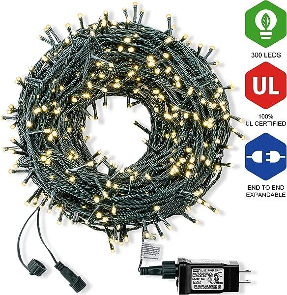 Bestalent Christmas String Lights 300 LED 104ft Warm Light