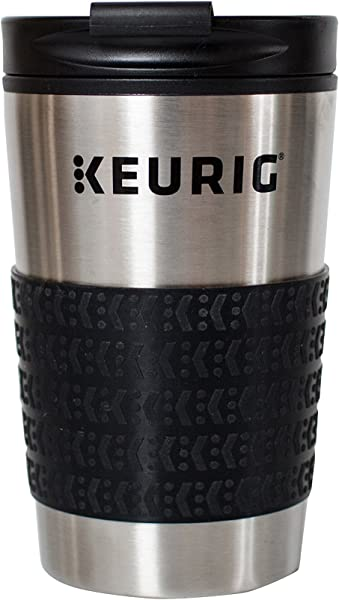 Keurig 12Oz Stainless Steel Insulated Coffee Travel Mug Fits Under Any Keurig K Cup Pod Coffee Maker Including K 15 K Mini Silver