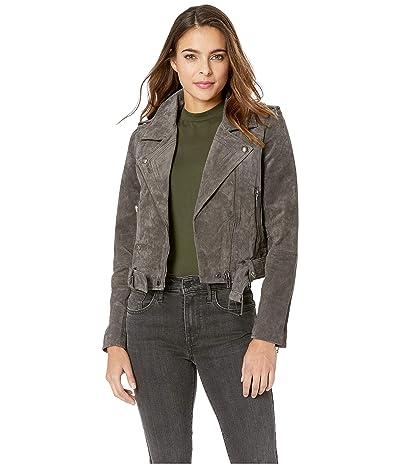 Blank NYC Suede Moto Jacket (French Grey) Women