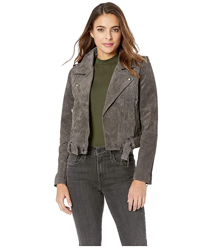Blank NYC Suede Moto Jacket (French Grey) Women