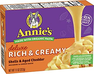 Annie's Shells and Real Aged Cheddar Macaroni and Cheese (Pack of 12)