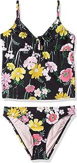 98c2c62cfe9c Hobie Big Girls' Tankini Top and Hipster Bikini Bottom Swimsuit Set