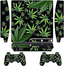 Designer Skin for Sony PlayStation PS3 SLIM System & Remote Controllers -Weeds - Black