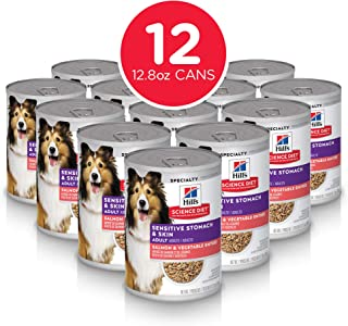 Hill's Science Diet Wet Dog Food, Adult, Sensitive Stomach & Skin Recipes, 12.5..