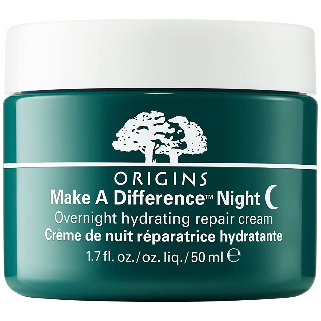 イタリックキリマンジャロ流暢起源は違い?一晩水和修復クリームを作ります (Origins) (x2) - Origins Make a Difference? Overnight Hydrating Repair Cream (Pack of 2) [並行輸入品]