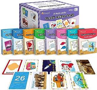 KMUYSL Sight Words Flash Cards for Preschool, Kindergarten, 1st, 2nd & 3rd Grade - 8 in1 Classroom Supplies & Materials - ...