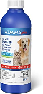 Adams Plus Flea & Tick Shampoo with Precor, 24-Ounce, Blue