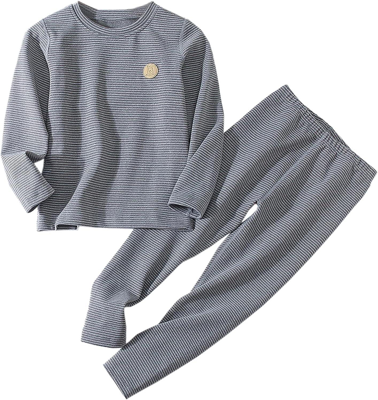 Schbbbta Girls' Boys' Cationic Thermal Underwear Pajama Sets, 2-14 Years