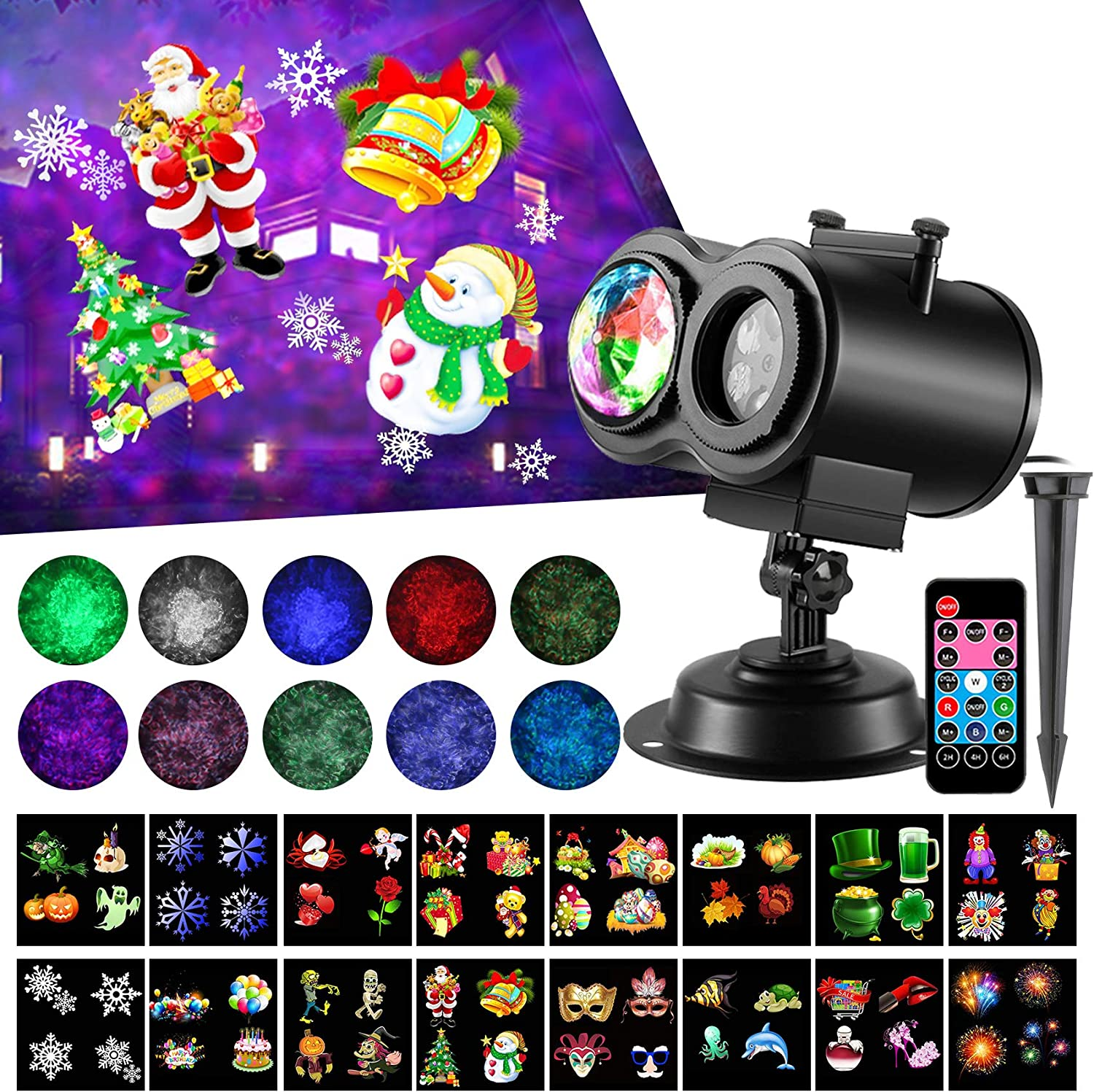 LED Christmas Projector Lights 2-in-1 Sl Wave Ocean Fixed price for sale 16 Super Special SALE held