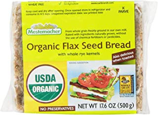 Mestemacher Bread, Organic Flaxseed, 17.6 Ounce Units (Pack of 12)
