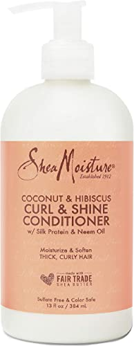 Shea Moisture Coconut and Hibiscus Curl and Shine Conditioner, 384 ml