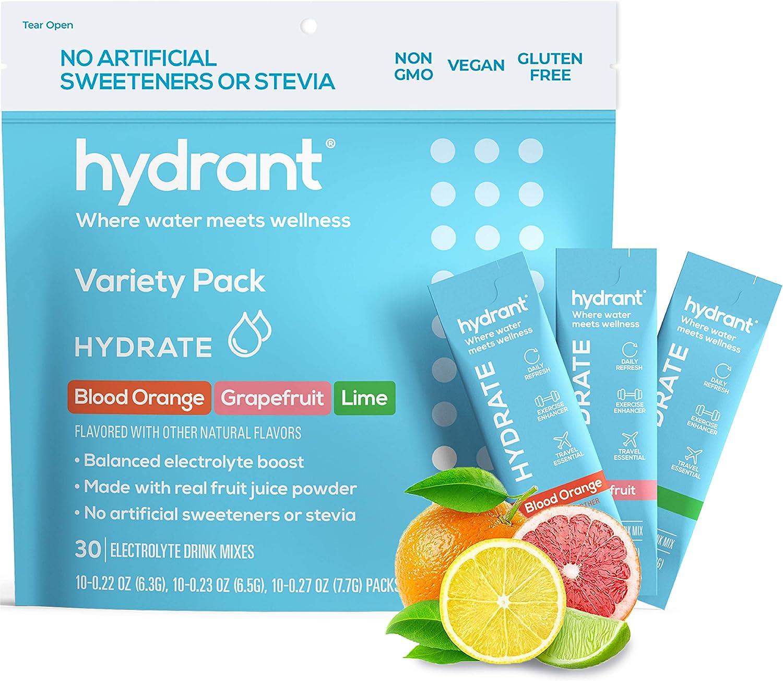 Atlanta Mall Hydrant Hydrate Variety 30 Stick Max 82% OFF Rapid Powder Packs Electrolyte