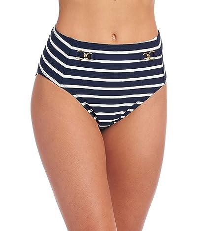 La Blanca Capri Stripe Belted High-Waist Bottoms