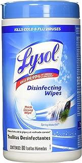 Lysol Toallitas Desinfectantes spring waterfall 80 Toallitas