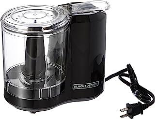BLACK+DECKER 3-Cup Electric Food Chopper, Improved Assembly, Black, HC300B