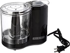 Black & Decker One-Touch 3 Cup Capacity Electric Food Chopper with Improved Assembly and Lid (Black)