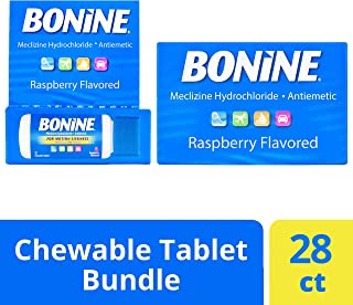 Bonine Motion Sickness Relief Chewable Tablets, Raspberry 16 + 12 ct.
