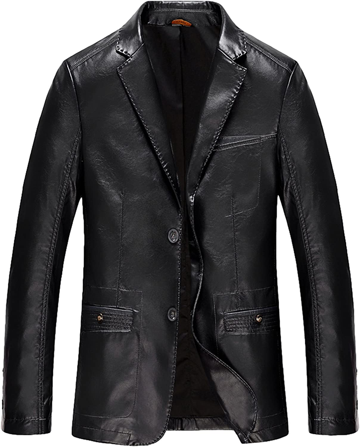 Men's Leather Fit Business Leather Suit Leather Jacket