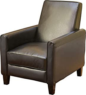 Christopher Knight Home Lucas Saving Recliner | Perfect for Home or Office | Ideal Furnishing Option for Smaller Living Spaces, Black Leather