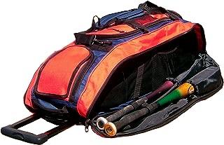 Navy Blue and Orange Cobra RTS Softball Baseball Bat Equipment Roller Bag
