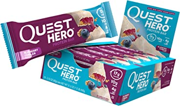 Quest Nutrition Blueberry Cobbler Hero Protein Bar, Low Carb, Gluten Free, 10 Count