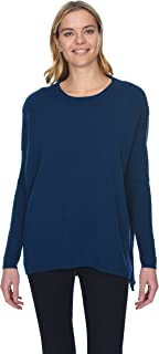 Oversized Crewneck Pullover 100% Pure Cashmere Long Sleeve Tunic Sweater for Women