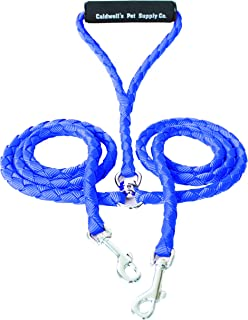 Dual Dog Leash, Double Dog Leash,360° Swivel No Tangle Double Dog Walking & Training Leash, Comfortable, Reflective Stitching for Two Dogs, Blue by Caldwell's Pet Supply Co.