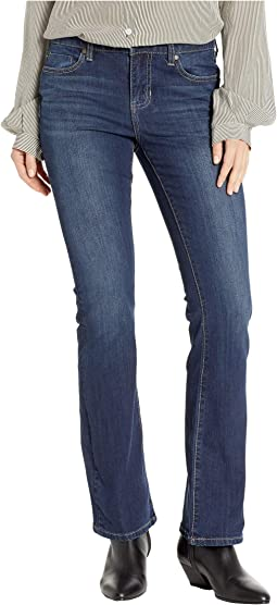 "Petite Logan ""Hugger"" Bootcut slimming Four-Way Stretch Denim Jeans in Orion Medium Dark"