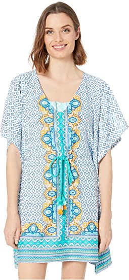 Jewel Scarf Coverluxe Tie Waist Cover-Up