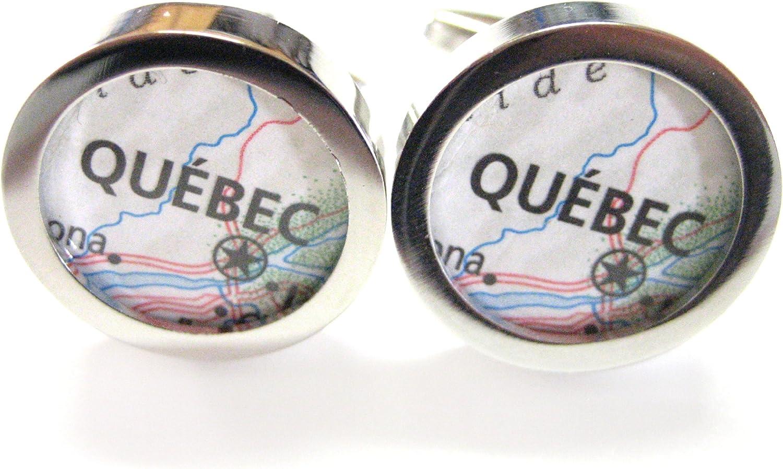 Quebec Canada Map Cufflinks