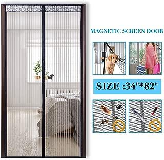 PAICloud Magnetic Screen Door Mesh Curtain Fits Doors Up to 34